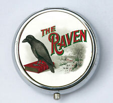 The Raven pillbox pill box Pill case box holder victorian gothic crow poe