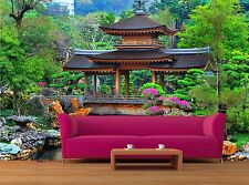 Pagoda in chinese zen garden 3D Mural Photo Wallpaper Decor Large Paper Wall