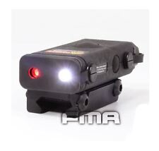 AIRSOFT PEQ 10 RED LASER LIGHT LED TORCH FLASHLIGHT 20mm RAIL BLACK UK POINTER