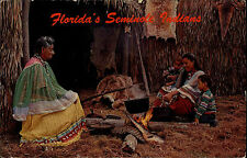 Florida Amerika USA 1966 Seminole Okalee Indian Village Indianer Trachten Ethnic