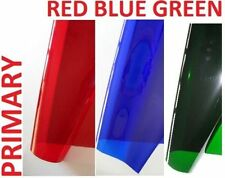 """3 X PRIMARY COLOURS Lighting Filter Gel Sheets 21"""" x 48"""" PRIME  RED BLUE GREEN"""