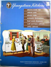 Vtg Youngstown Kitchens Appliances Catalog RETRO Range Oven Refrigerator 1952