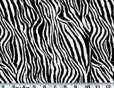 Zebra Animal Print Cotton Quilting Fabric,  By the Yard #256-12