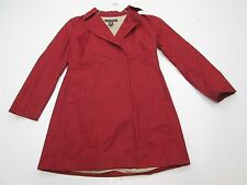 BANANA REPUBLIC J316 Women's Size M 100% Cotton Casual Classic Red Trench Coat