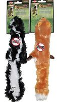 "2-pack Mini Skinneeez Stuffing Free 14"" Dog Toys Skunk & Fox Forest Creatures"