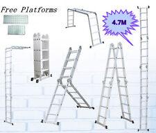 4.7 M Multi Purpose Function Adjustable Configuration Folding Aluminium Ladder