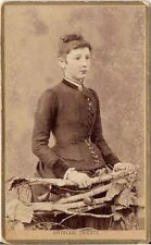 CDV photo Feine Dame - Trieste Triest 1880er