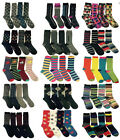 6 Pairs Mens Designer Socks Cotton Rich Design Formal Sock Size UK 6-11