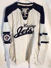 CCM Rib Knit LS NHL Jersey Winnipeg Jets Team Tan sz XL