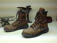 BROWN RED WING 2238  STEEL TOE USA DISTRESSED ENGINEER OIL WORK BOOTS SIZE 10 E