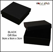 12 Black Jewellery Boxes Square Bracelet Gift Boxes 9x9cm