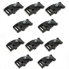 10pcs Buckle with Whistle Mini Compass for Paracord Bracelet Black ND8H