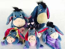LOT 5 Disney Eeyore Plush Toys 1999 Talking ASK ME EEYORE Love Bug Easter 2000