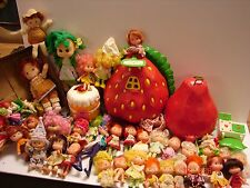 HUGE VINTAGE LOT AMERICAN GREETING DOLLS STRAWBERRY SHORTCAKE & FRIENDS PLAY SET
