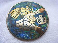 Indianerschmuck Taxco Mexico Inka Silver Brooch  Pendant Brosche Anhänger Nr.231