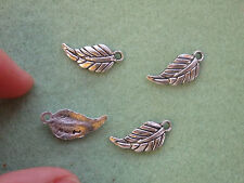 15 leaf charms pendants beads Tibetan silver antique tone wholesale