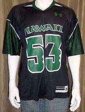 Hawaii Warriors #53 Under Armour Black & Green Football Jersey Men's M NWT