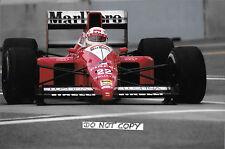 9x6 Photograph, Andrea de Cesaris F1 Dallara-Cosworth F189 , US GP, Detroit 1989