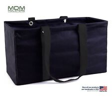 "MDM Large Utility Tote Bag, Organizer, Laundry Bag ""Black & Black"""