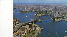 Postcard Australia  Aerial view of Sydney Harbour Bridge posted