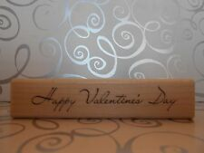 NEW INKADINKADO HAPPY VALENTINES DAY RUBBER MOUNTED WOOD BLOCK STAMP 60-00124