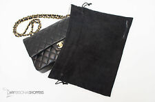 LUXE REVERSIBLE BLACK/WHITE DUST COVER BAG FITS YOUR CHANEL 13.75x8.75 (SM/MD)