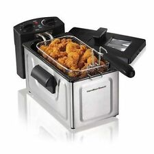 Electric Deep Fryer 2 Liter Stainless Steel Countertop Fry Basket Kitchen Cooker