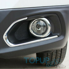 FIT For 2014 Suzuki SX4 S-Cross Chrome Front Fog Light Lamp Cover Trim Molding
