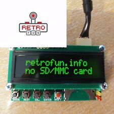 ATARI SIO2SD Disk Drive Emulation with LCD GREEN + SIO plug and cable / PnP