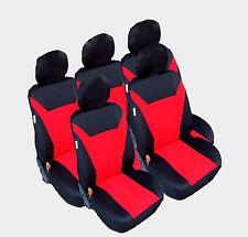 5x Sitze Auto Sitzbezug Sitzbezüge Schonbezüge Schonbezug Universal Set Rot
