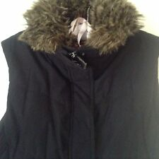 ESPRIT padded black gilet/waistcoat size small 10, 12  or 14