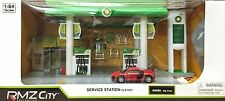 RMZ CITY 1:64 BP OIL SERVICE GAS STATION DIORAMA PLAYSET FOR TOMICA CHORO Q