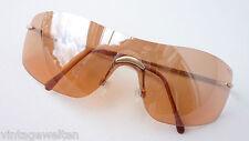 Missoni  sportliche Sonnenbrille randlos durchgehende Scheibe orange Tönung TOP