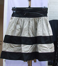Atmosphere UK 10 Wonderful Black & Ivory Layered Puff Skirt with Narrow Belt