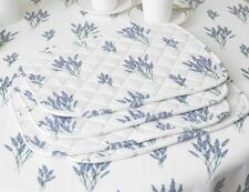 Laura's Beau Exclusive Design Lavender Pack of 4 Floral Cotton Quilted Placemats
