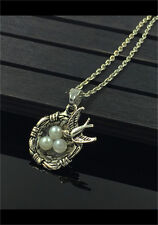 1pcs Bird Nest Necklace Charm Pendant Antique Tibet Silver Love Family Gift  HOT