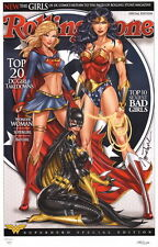Jamie Tyndall SIGNED DC Comic Art Print Wonder Woman Supergirl Batgirl #142/150