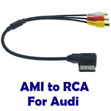 AMI MMI 3 RCA Phono Audio AV Composite Video Cable For AUDI A1 A8 Q7 Series UK