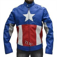 New the Avengers 2 Assembled Captain America,  Faux Leather Jacket Chris Evans