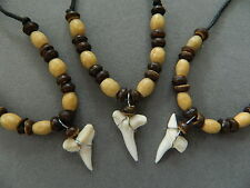 shark tooth necklace surfer 3 PIECES 1cm long tooth party bags boys