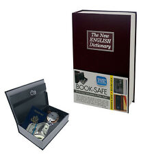Hidden Security Dictionary Book Safe for Cash Jewelry Storage Key Lock Box Steel