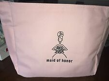Maid of Honor Gifts Pink Embroidered Tote Bag Wedding Party Gift