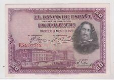 ESPAGNE ESPANA 50 PESETAS 1928