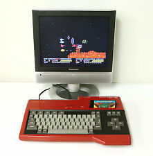 "SANYO MSX WAVY RED Personal Computer Console ""Excellent +"" Tested Properly!!!"