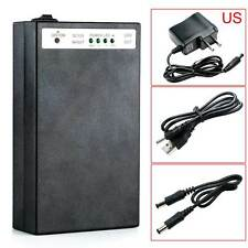Well DC 5V/12V 2 In 1 Rechargeable 15000Mah Li-ion Battery Pack US Adapter Black