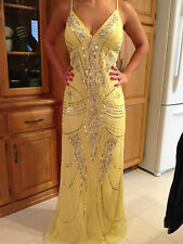 Night Way Collections RN 53048 Yellow Formal Prom Homecoming Dress Gown 12