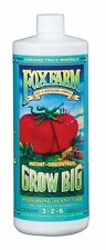 Fox Farm Grow Big Hydro 1 Quart qt 32oz - nutrient fertilizer trio base foxfarm