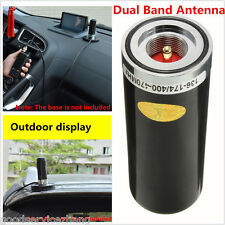 Black Short High Gain Dual Band Antenna NMO for Car Radio 400-470Mhz&136-174MHZ
