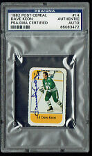 Dave Keon signed autograph auto 1982 Post Cereal Hockey Trading Card PSA Slabbed