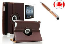 360° Rotating PU Leather Case Cover for iPad Mini 1 2 3 + Screen Protector